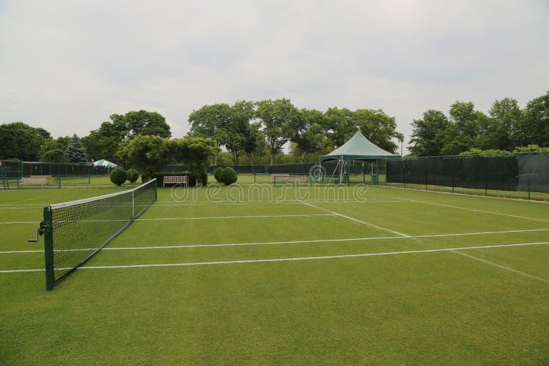 草网球场 库存图片