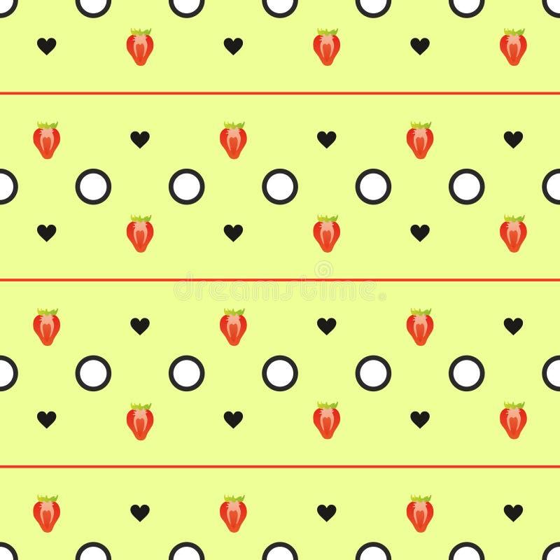 草莓几何样式 皇族释放例证