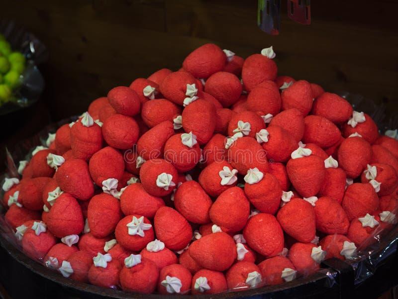 草莓口味gummies待售 免版税图库摄影