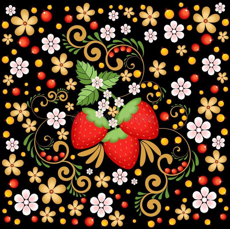 Download 草莓和花在黑暗的背景 向量例证. 插画 包括有 照亮, 背包, 装饰品, 食物, 夏天, 五颜六色, 俄语 - 72367892