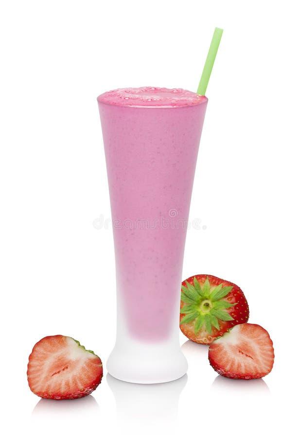 草莓圆滑的人 库存照片