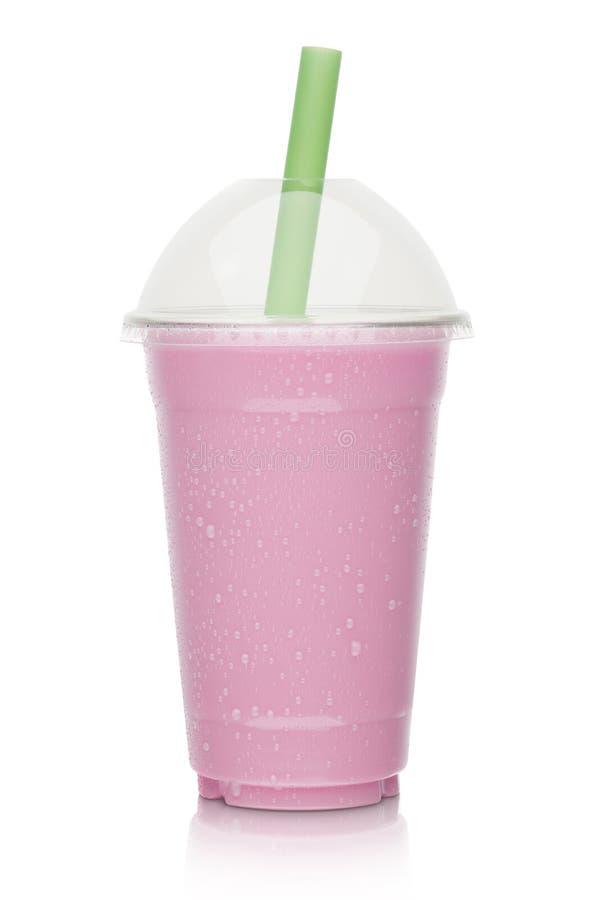 草莓奶昔 免版税库存照片