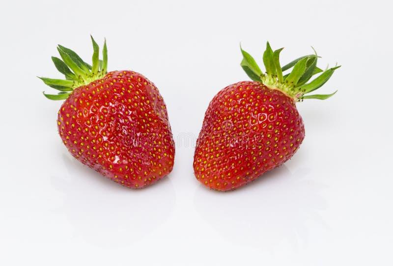 草莓对 免版税库存照片