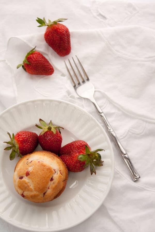 草莓早餐 库存照片