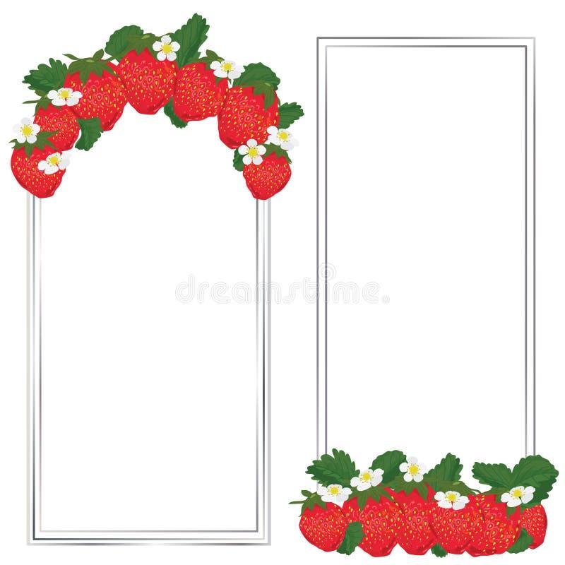 草莓果子标签 向量例证