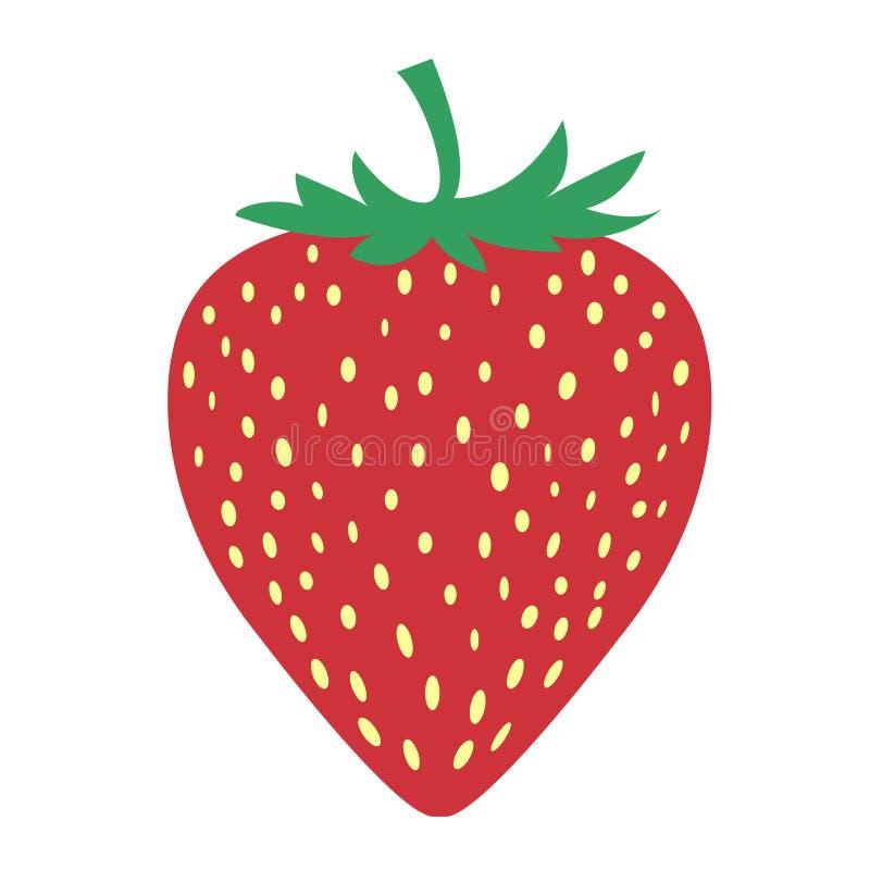 草莓果子的图片是非常简单的 皇族释放例证