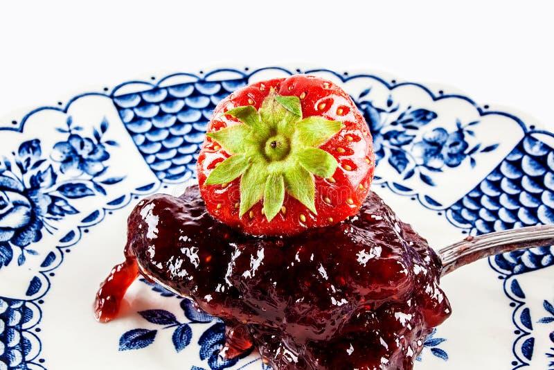 草莓果冻 免版税库存图片