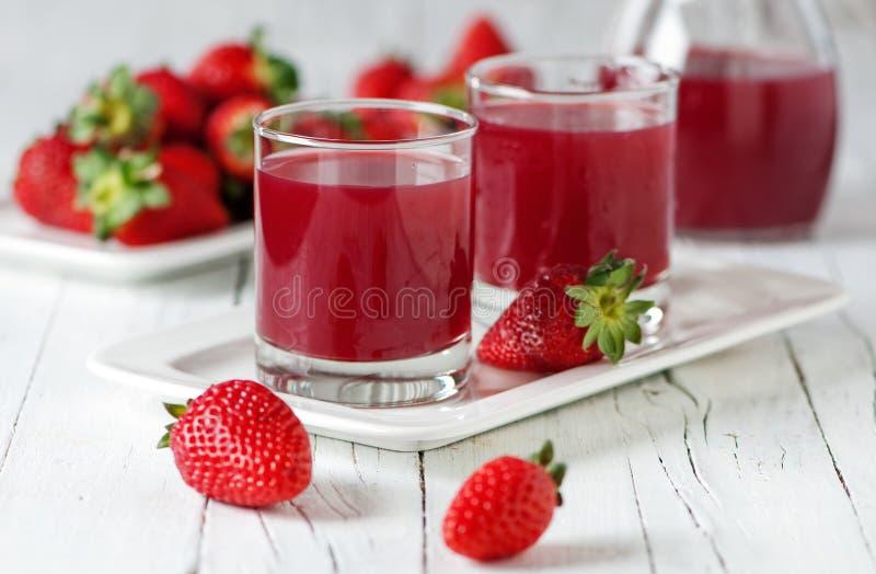 草莓汁 库存照片
