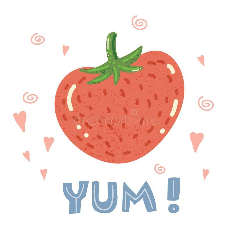 草莓海报 皇族释放例证