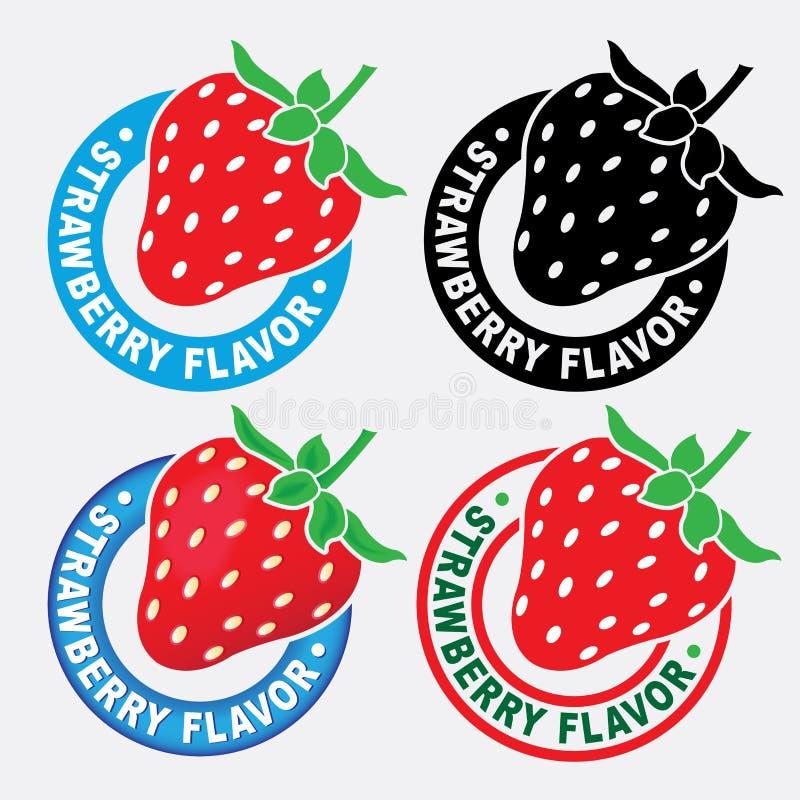 草莓类似密封/标记 皇族释放例证