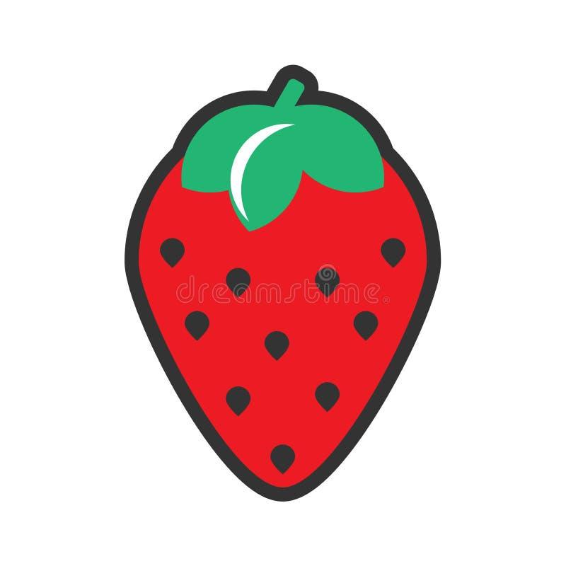 草莓编辑可能象的设计EPS 库存图片