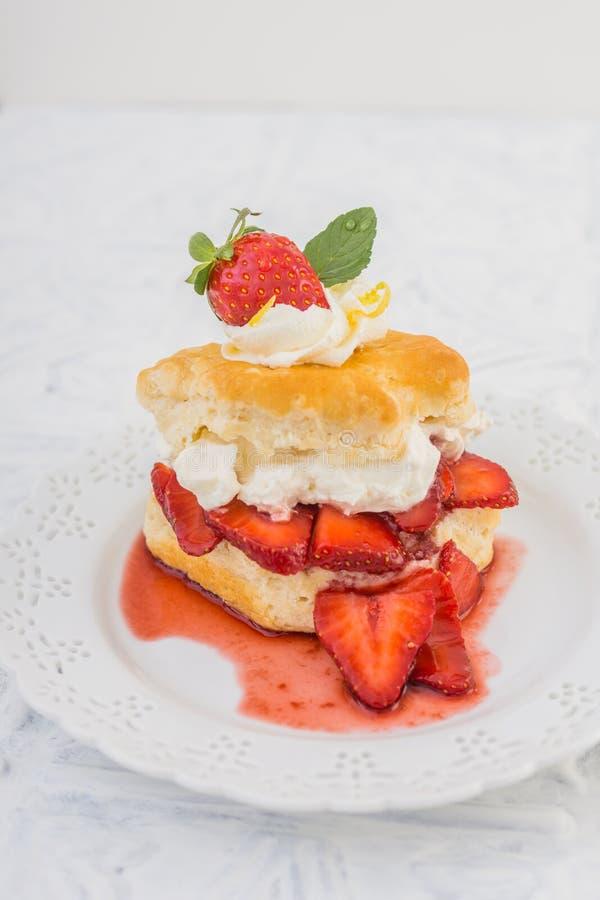 草莓脆饼 免版税库存照片