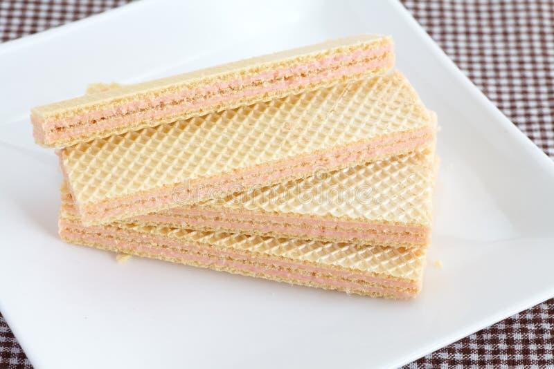 草莓薄酥饼 库存照片