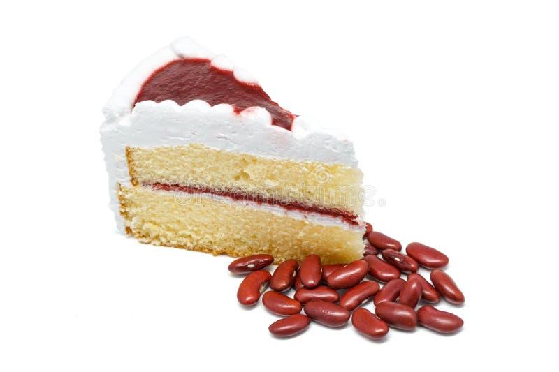 草莓蛋糕商店白色背景 库存图片