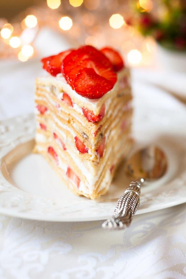 草莓蛋糕 免版税库存照片