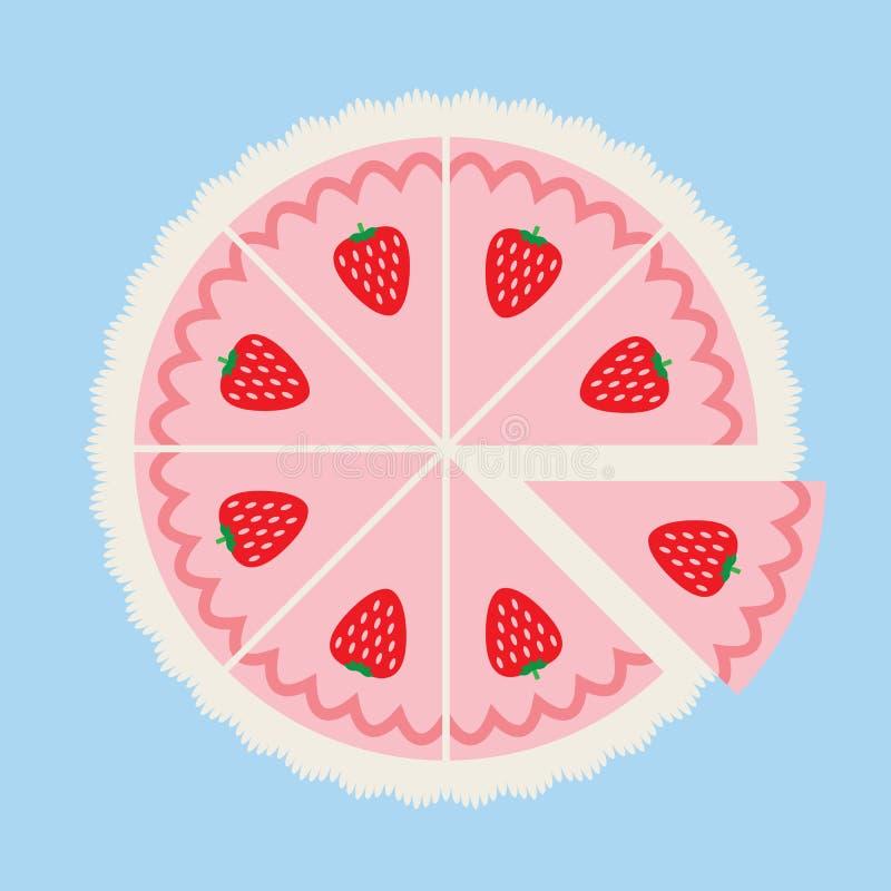 草莓蛋糕 向量例证