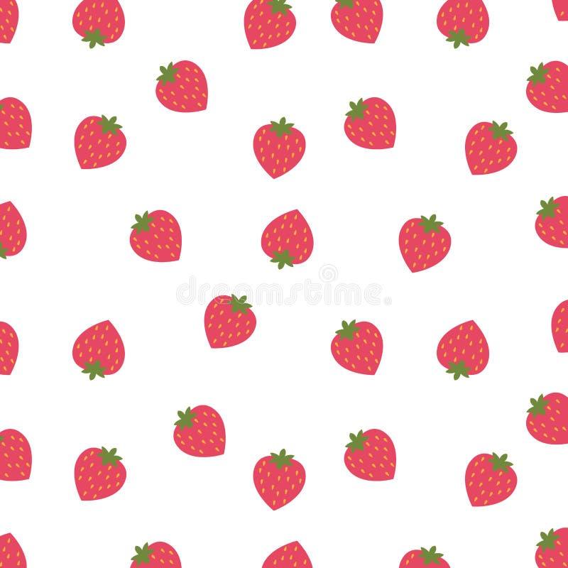 草莓被隔绝的象设计背景  库存例证