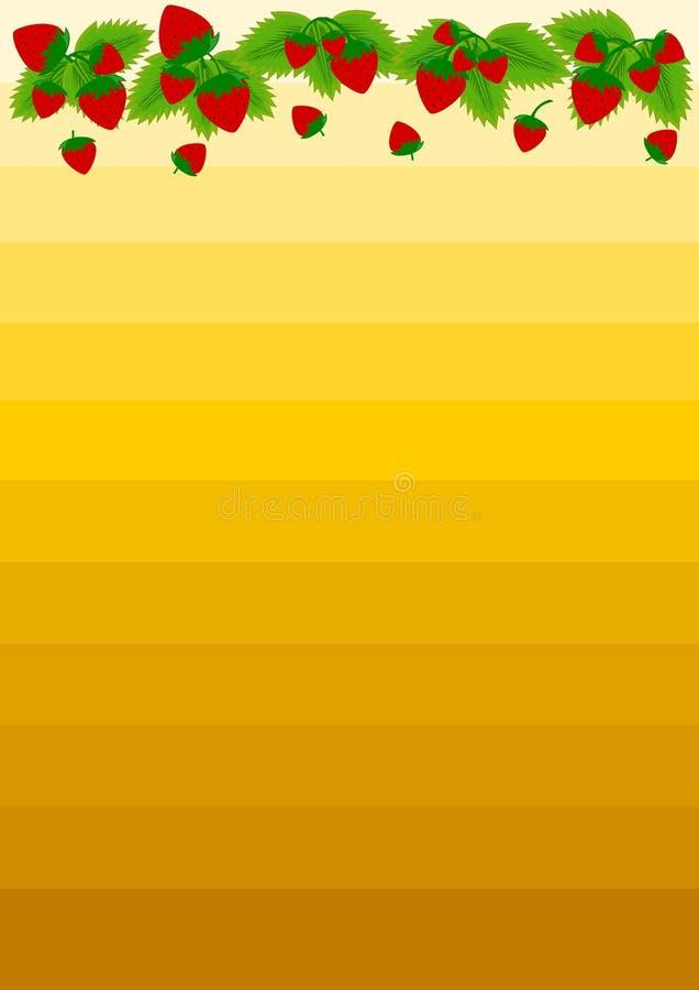 草莓边界 库存例证
