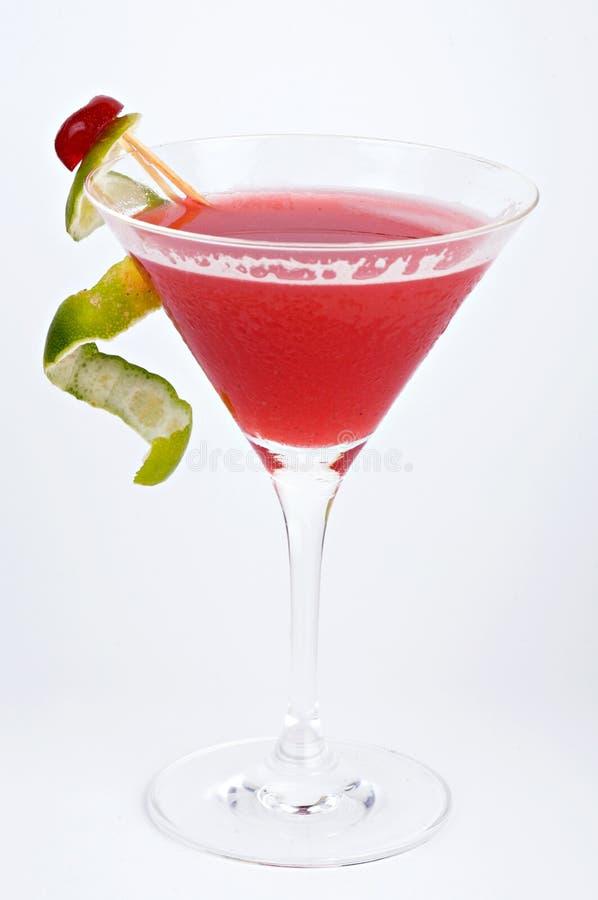 草莓酒鸡尾酒 免版税库存照片