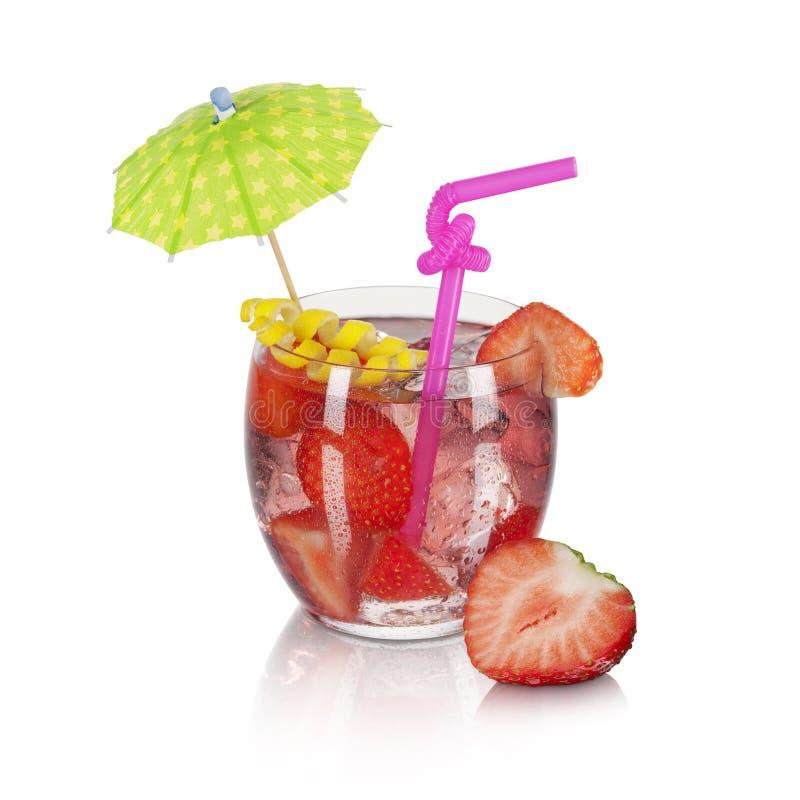 草莓鸡尾酒 库存图片