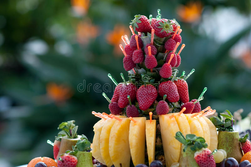 草莓,点心,开胃菜的豪华食物 库存照片