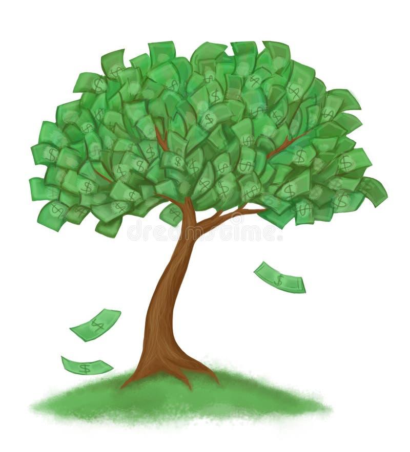 草货币结构树 向量例证