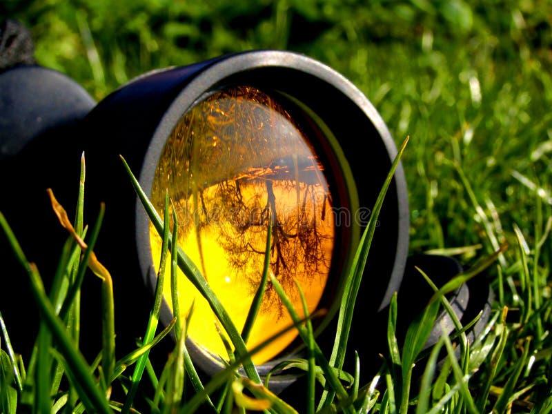 草透镜望远镜 图库摄影
