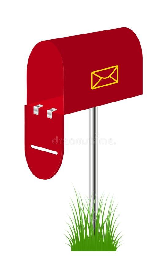 草邮箱红色身分 库存例证