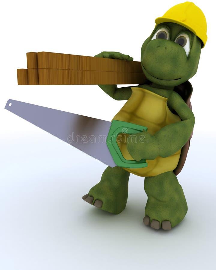 草龟木匠承包商 库存例证