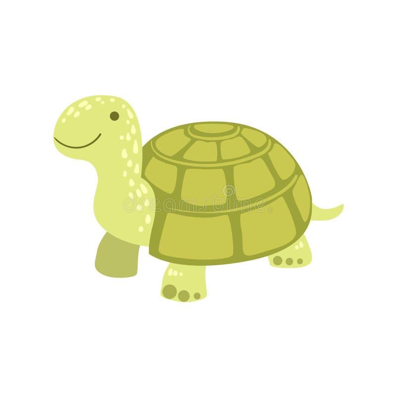 草龟风格化幼稚图画 向量例证