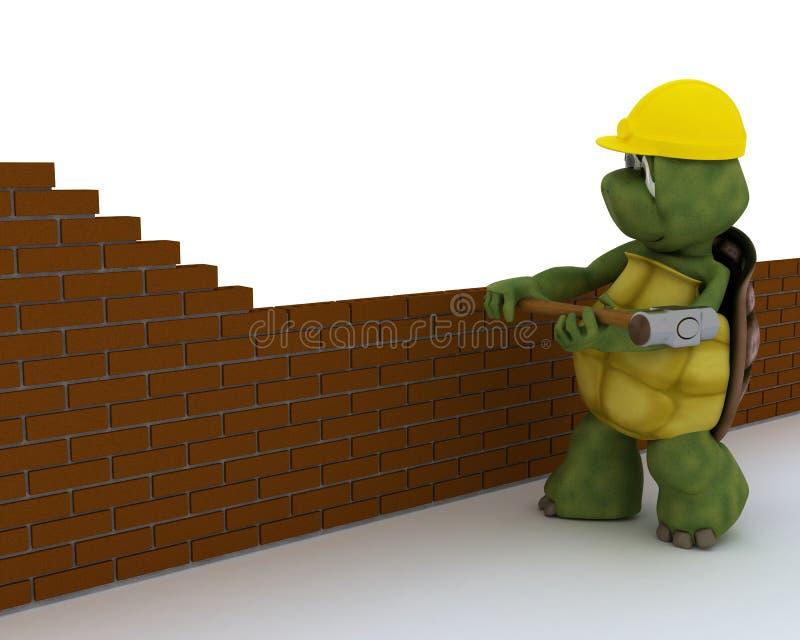 草龟建筑承包商 向量例证