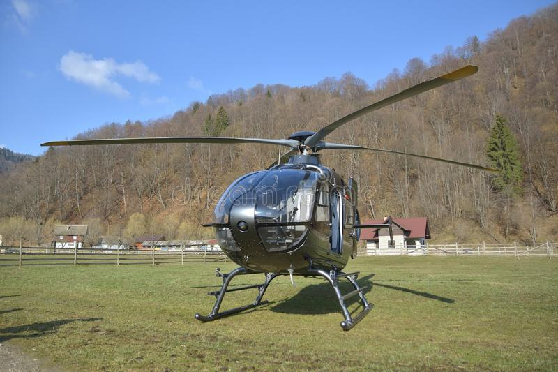草直升机专用小 库存图片