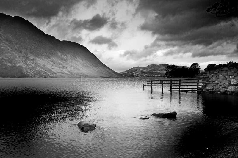 荒凉的湖 图库摄影