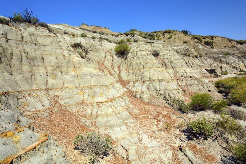 荒地悬崖在夏天 库存图片