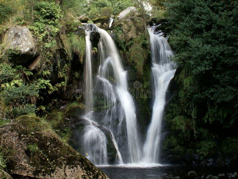 荒芜瀑布谷  免版税库存照片