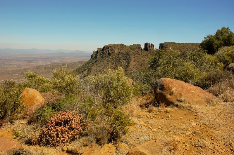 荒芜谷在Camdeboo 图库摄影
