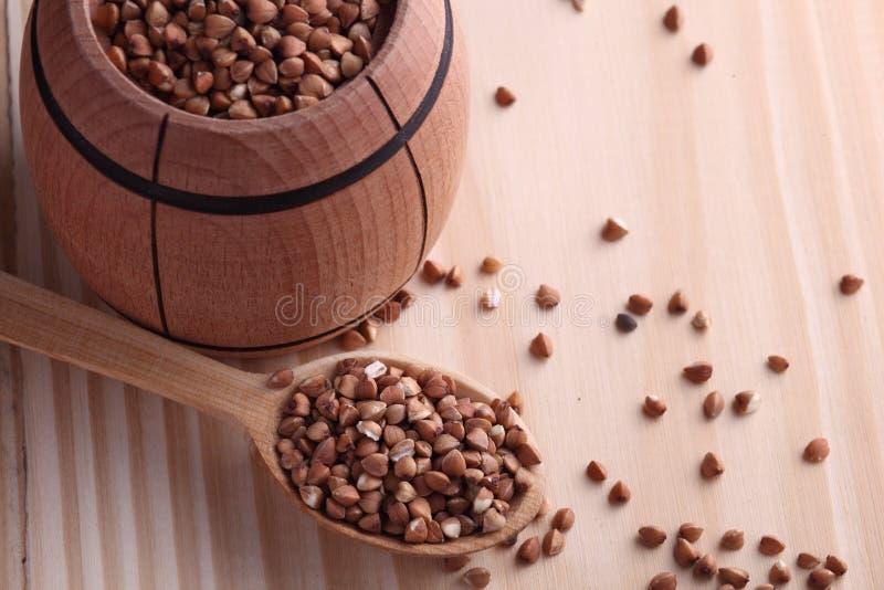 荞麦种子 免版税库存图片