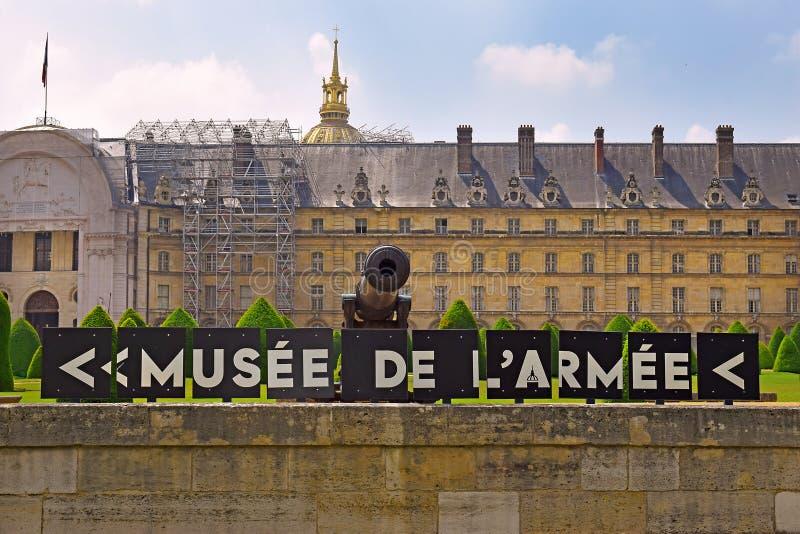荣军院和军队博物馆在巴黎,法国 免版税库存图片