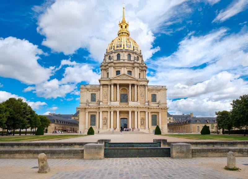 荣军院在安置拿破仑・波拿巴的坟茔巴黎 库存图片