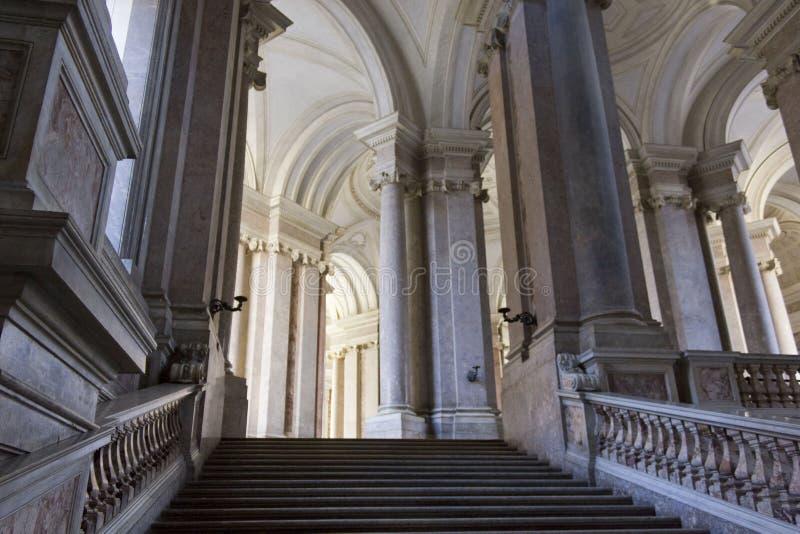 荣誉豪华楼梯,卡塞尔塔 免版税库存照片