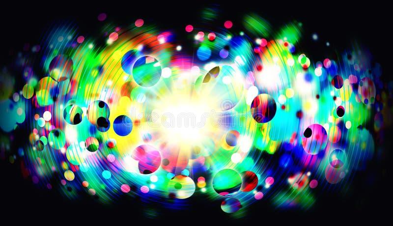 荧光的抽象背景 库存例证
