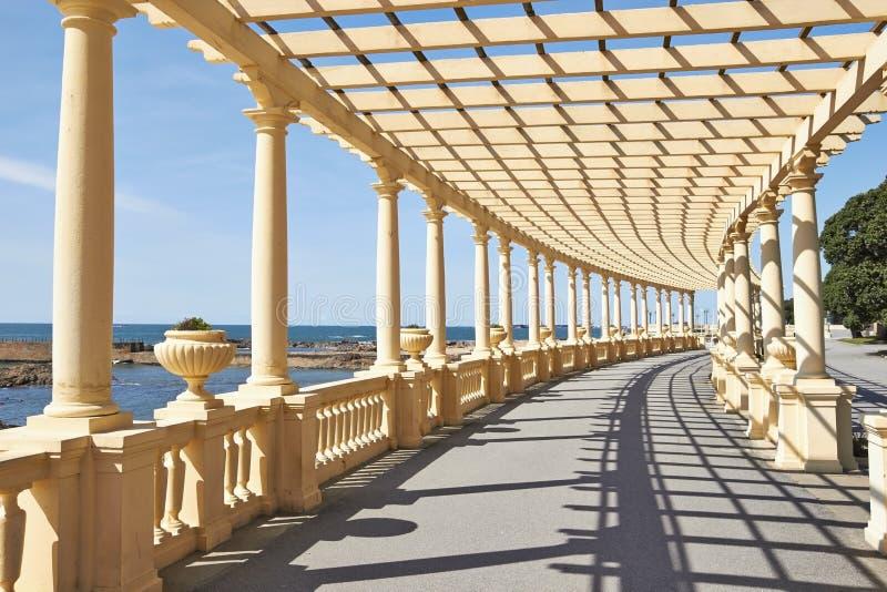荫径在波尔图,葡萄牙 免版税库存图片