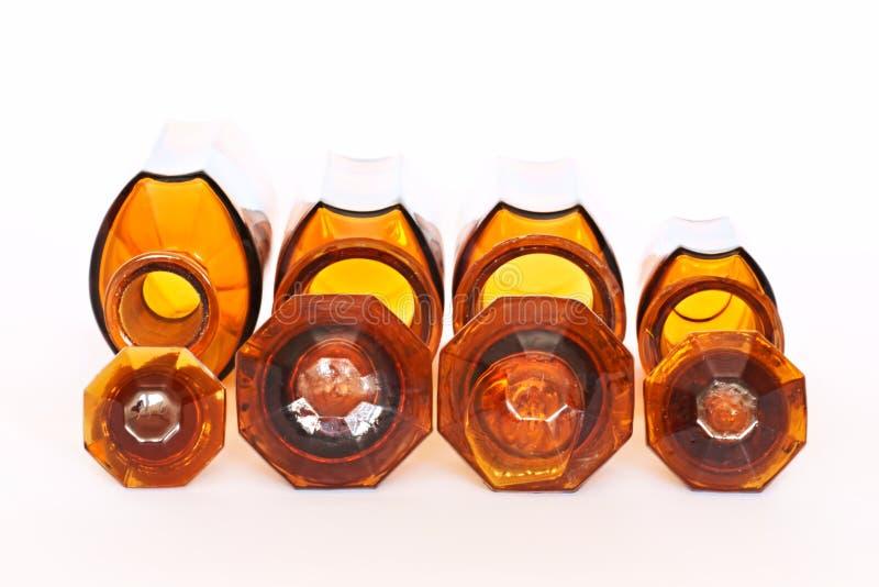 药房、玻璃瓶和药片,医学 库存照片