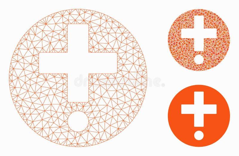 药房传染媒介滤网第2个模型和三角马赛克象 库存例证