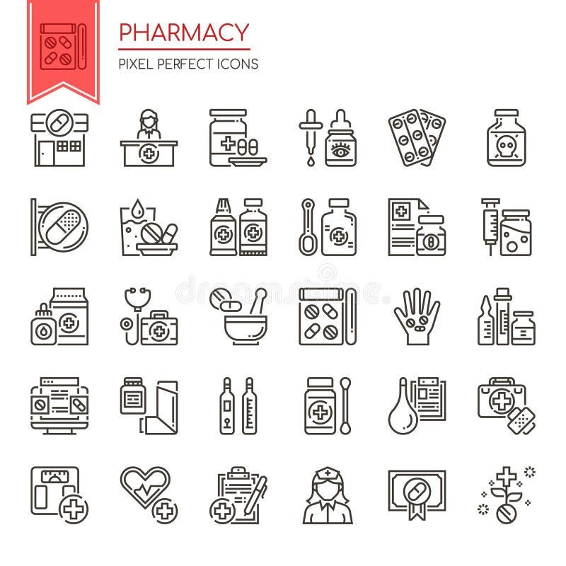 药房元素 库存例证