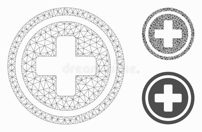 药房发怒传染媒介网状网络模型和三角马赛克象 库存例证