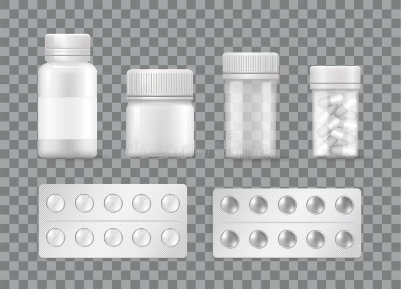 药房和医学手段传染媒介药片水泡 皇族释放例证