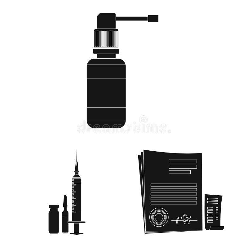 药房和医院标志传染媒介设计  o 库存例证