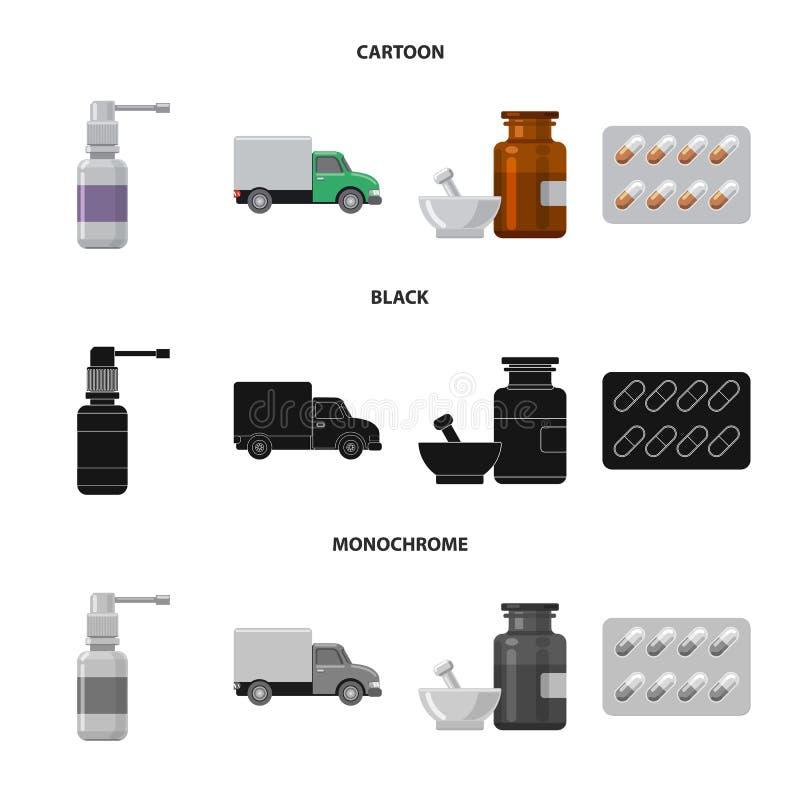 药房和医院标志的传染媒介例证 r 向量例证