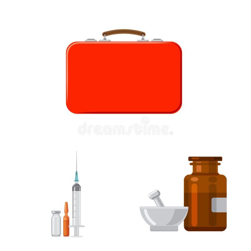 药房和医院象被隔绝的对象  设置药房和企业股票简名网的 库存例证